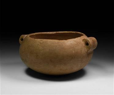 Egyptian Squat Breccia Jar