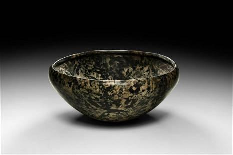 Egyptian Black and White Granite Bowl