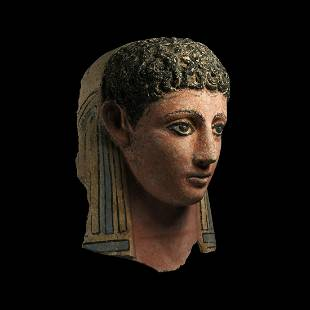 Egyptian Face Mask of a Young Male