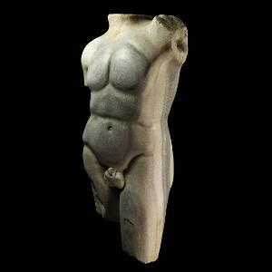Roman Veined Marble Torso of an Athlete