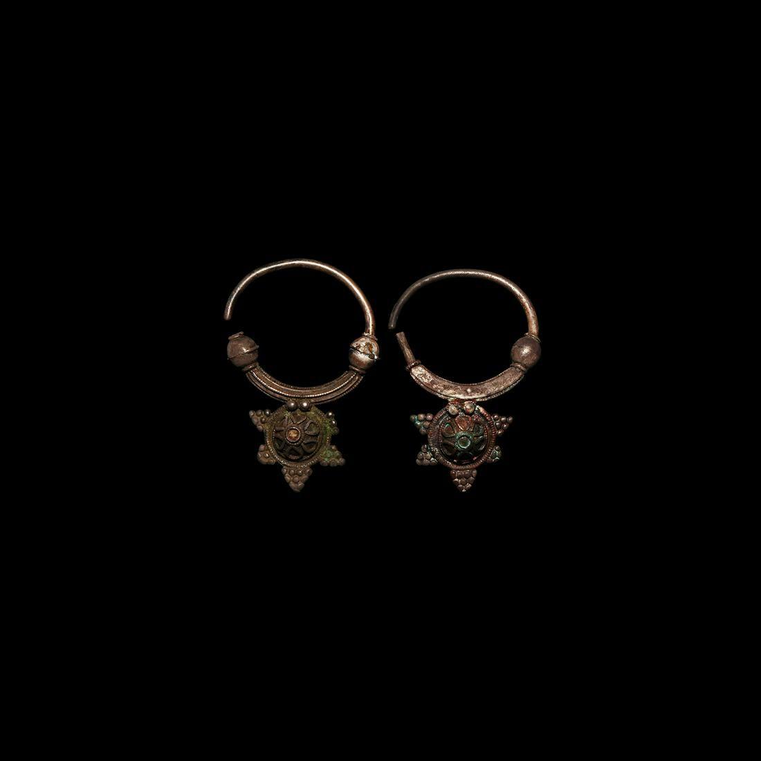 Byzantine Silver Earring Pair