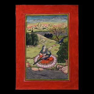 Indian Pahari School Vasant Seasonal Miniature