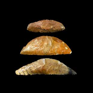 Stone Age Knapped Bifacial Flint Knife Collection