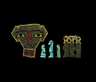 Amulets, Beaded Mummy Mask and Panels Collection
