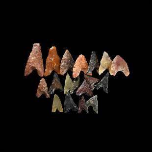 Egyptian Predynastic Flint Arrowhead Group