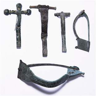Large Roman Bow Brooch Collection