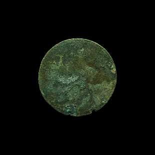 Roman Mirror with Handle Rivet Holes