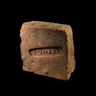 Roman 'Legio I Italica' Stamped Brick