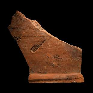 Roman Stamped 'H III M' Roof Tile Fragment