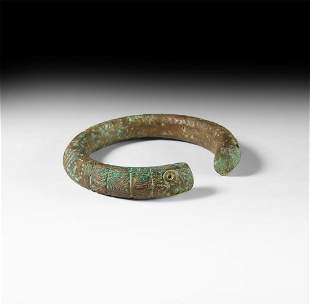 Large Luristan Serpent Bracelet