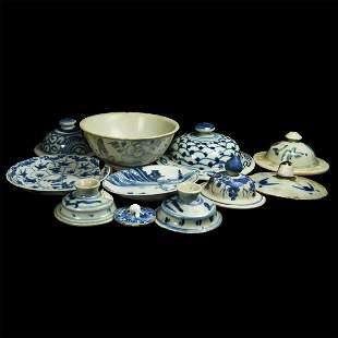 Chinese Blue and White Ceramic Group