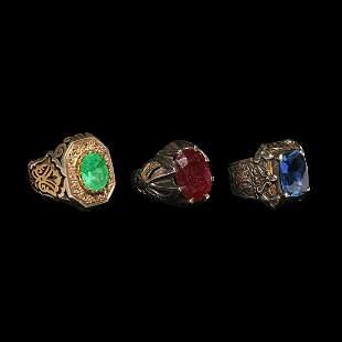 Islamic Gemstone Ring Group