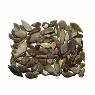Stone Age Leaf-Shaped Arrowhead Collection