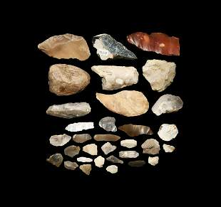 Stone Age British Flint Implement Collection