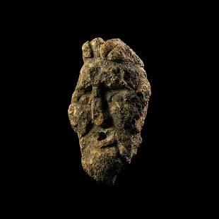 Iron Age Celtic Votive Stone Head