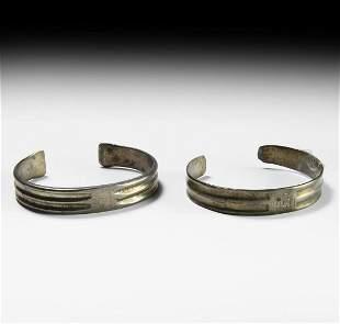 Medieval Gilt Silver Bracelet Group