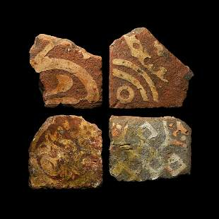Medieval Decorated Tile Group from Notley Abbey