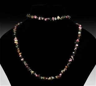 Tourmaline Crystal Bead Necklace
