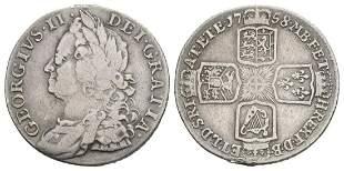 George II - 1758 - Shilling
