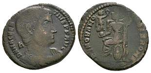 Magnentius - AE Roma Seated Follis