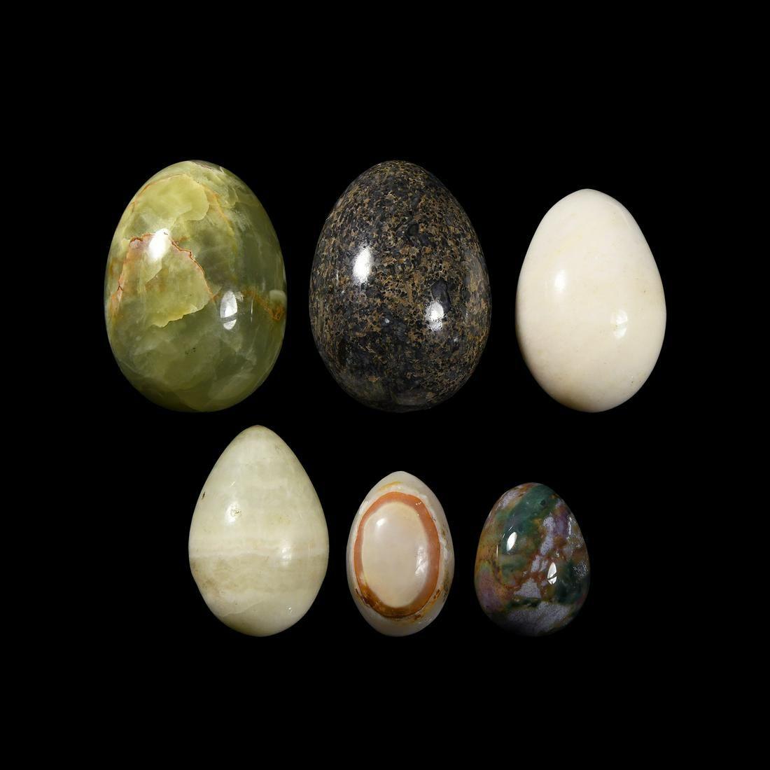 Polished Mineral Specimen Egg Group