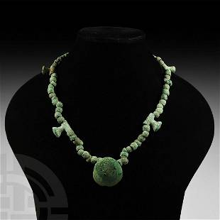 Bronze Age Bead Necklace with Pendants