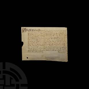 Stuart Charles I Period Manuscript Document