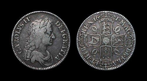 2: Charles II - Crown - 1671 VECESIMO TERTIO