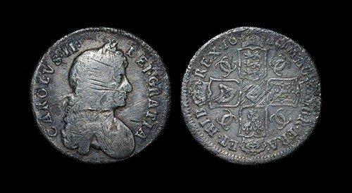 5: Charles II - Shilling - 1680