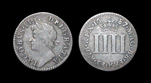 7: James II - Groat - 1687/6