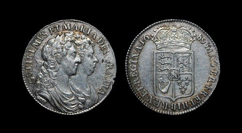 8: William and Mary - Halfcrown - 1689