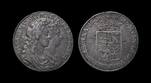 9: William and Mary - Halfcrown - 1689