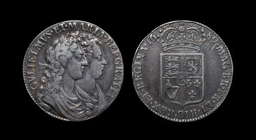 10: William and Mary - Halfcrown - 1689