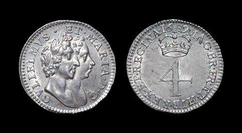 13: William and Mary - Groat - 1689 - GVLEELMVS variety