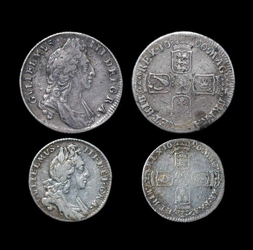 22: William III - Shilling and Sixpence - 1696