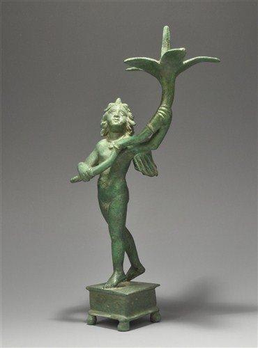 Roman Bronze Eros Statuette