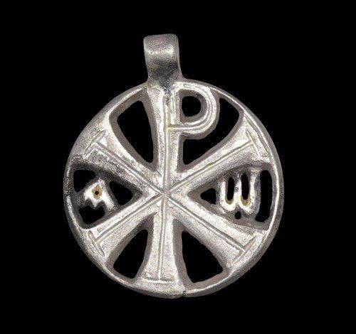 Byzantine Silver Chi-Rho Pendant