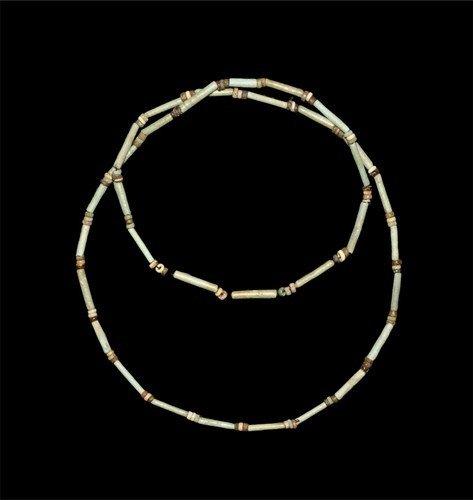 Egyptian Ramesside Mummy Bead Necklace