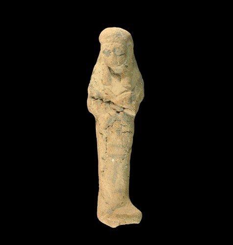 Egyptian Painted Ceramic Shabti