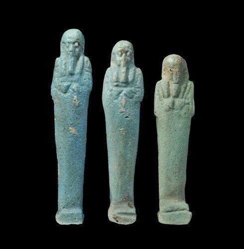 Egyptian Faience Shabti Group