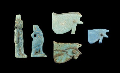Egyptian Faience Amulet Group