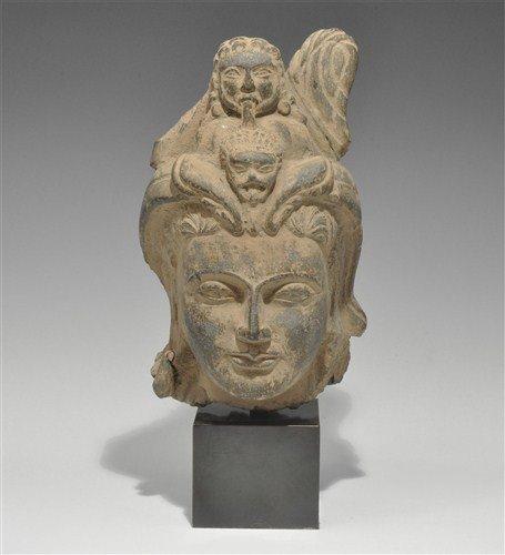 Gandharan Schist Female Head