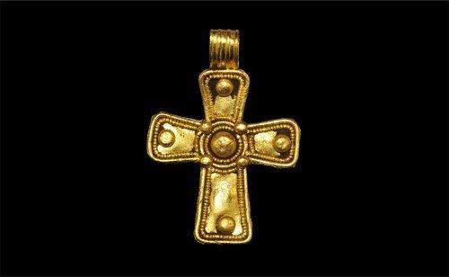 Byzantine Gold Cross Pendant
