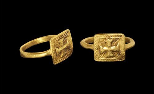Byzantine Gold Cross Finger Ring