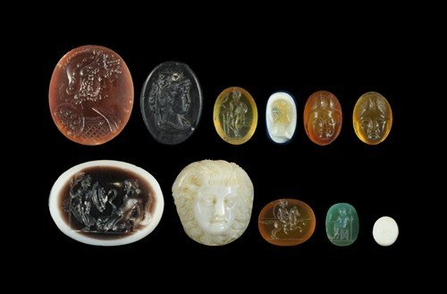 Roman Mixed Cameo and Intaglio Group