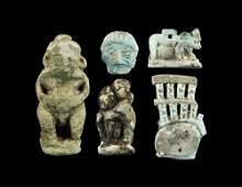 Egyptian Large Faience Amulet Group