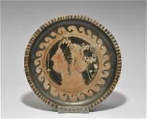 Greek Apulian Small Painted Plate