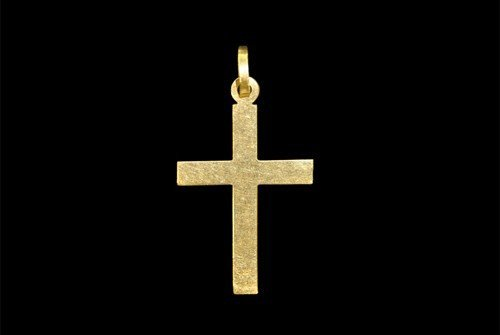 Post Medieval Gold Cross Pendant