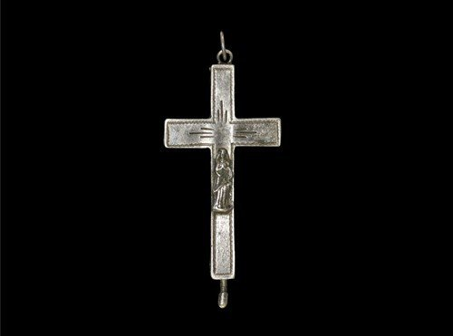 Post Medieval Silver Reliquary Crucifix Pendant