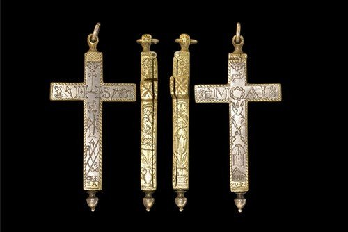 Post Medieval French Silver and Gold Reliquary Cross